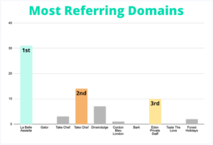"""for the term """"personal chef"""" the website which contain the most referring domains"""