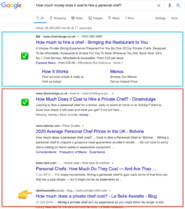 screenshot of google search engine results