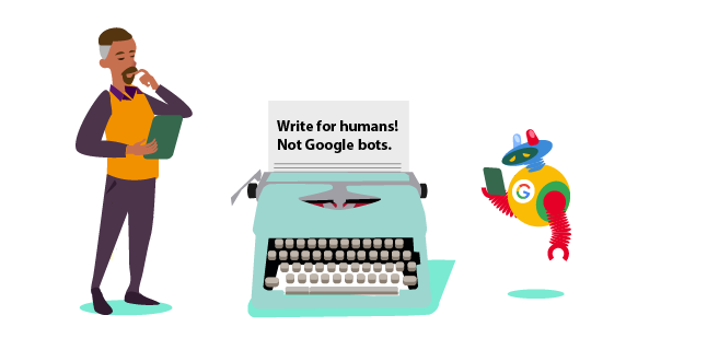 mage: write for humans, not Google bots