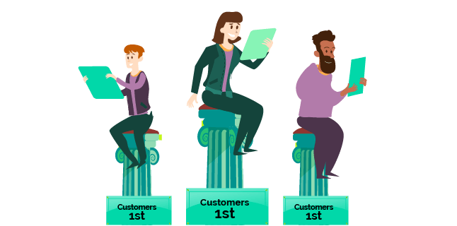 Image: customers 1st