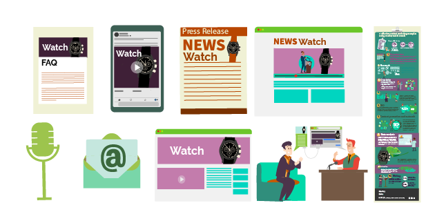 Images: Different ways to create luxury watch content - content marketing watch brands