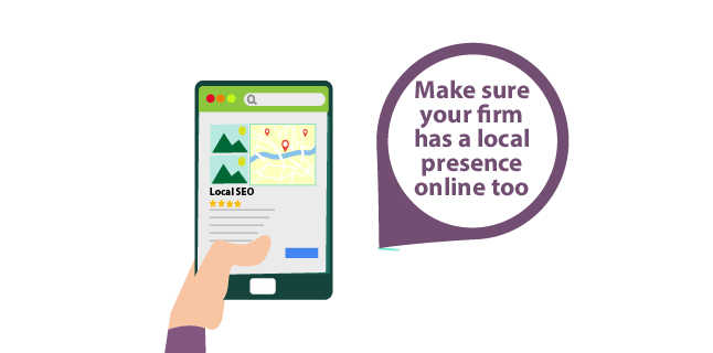 Image: Make sure your firm has a local presence online too - architecture business development