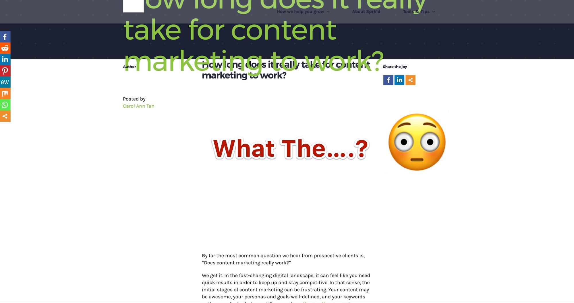 messy webpage
