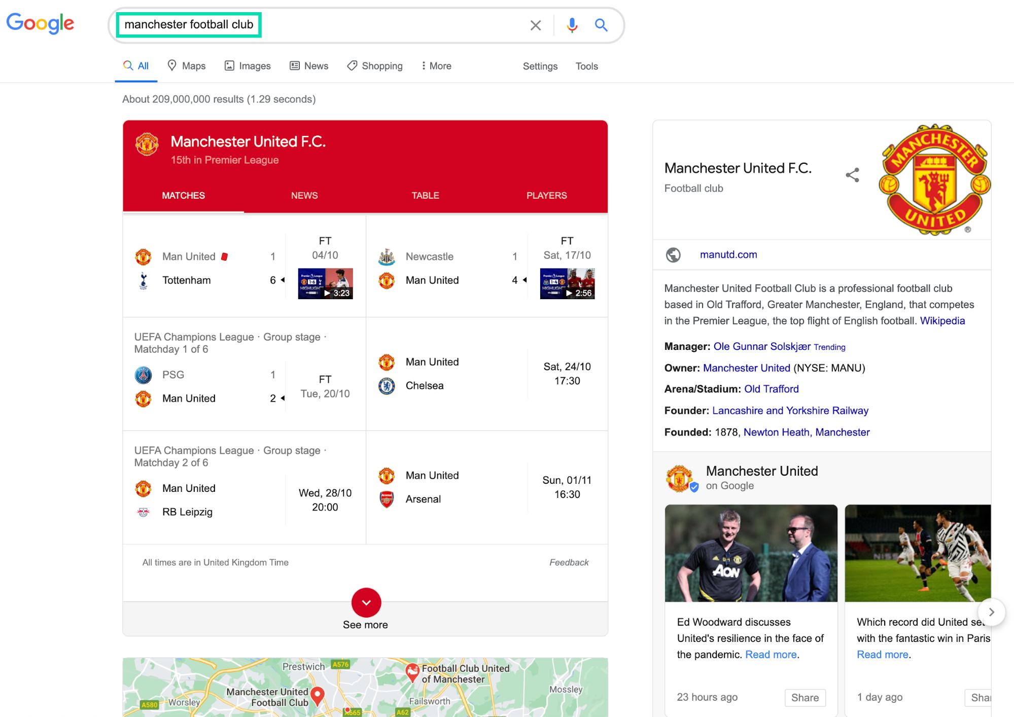 Seo competitor analysis man u vs man city google analysis
