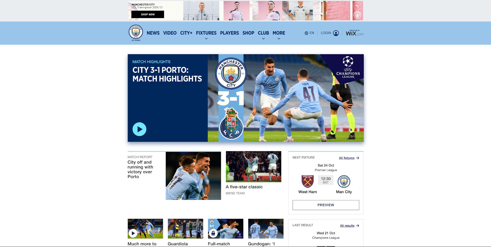 Seo competitor analysis man u vs man city webpage