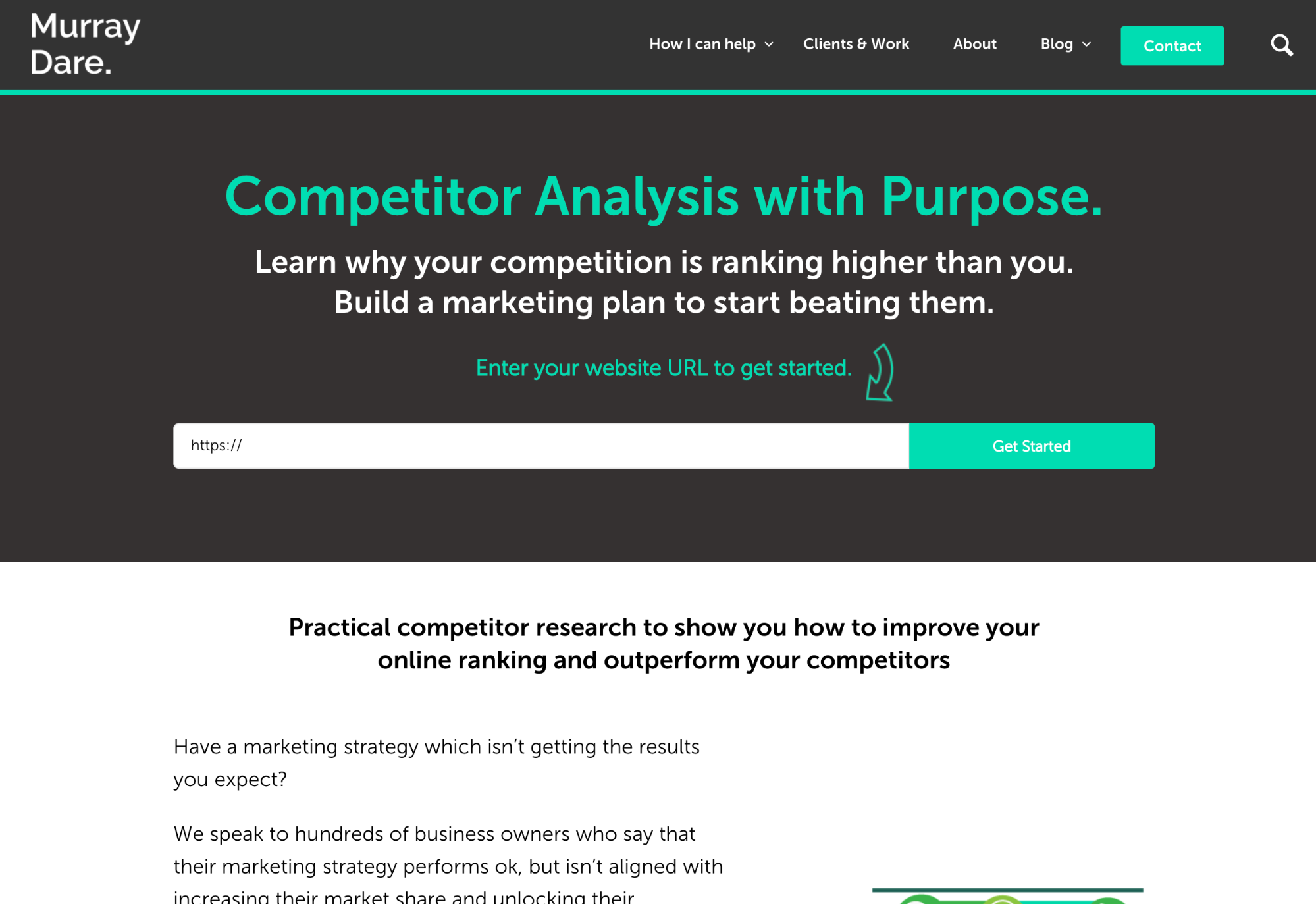 murray dare marketing consultancy competitor analysis with purpose