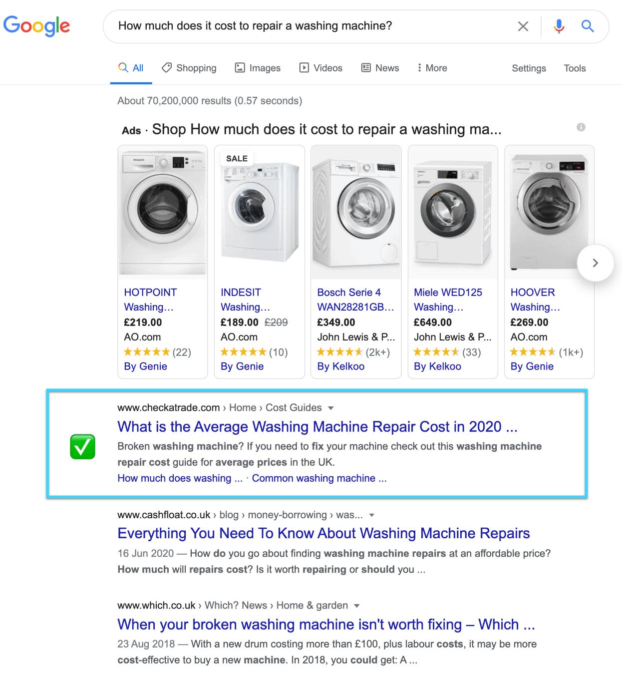murray dare competitor analysis example washing machine repair company comparison 21