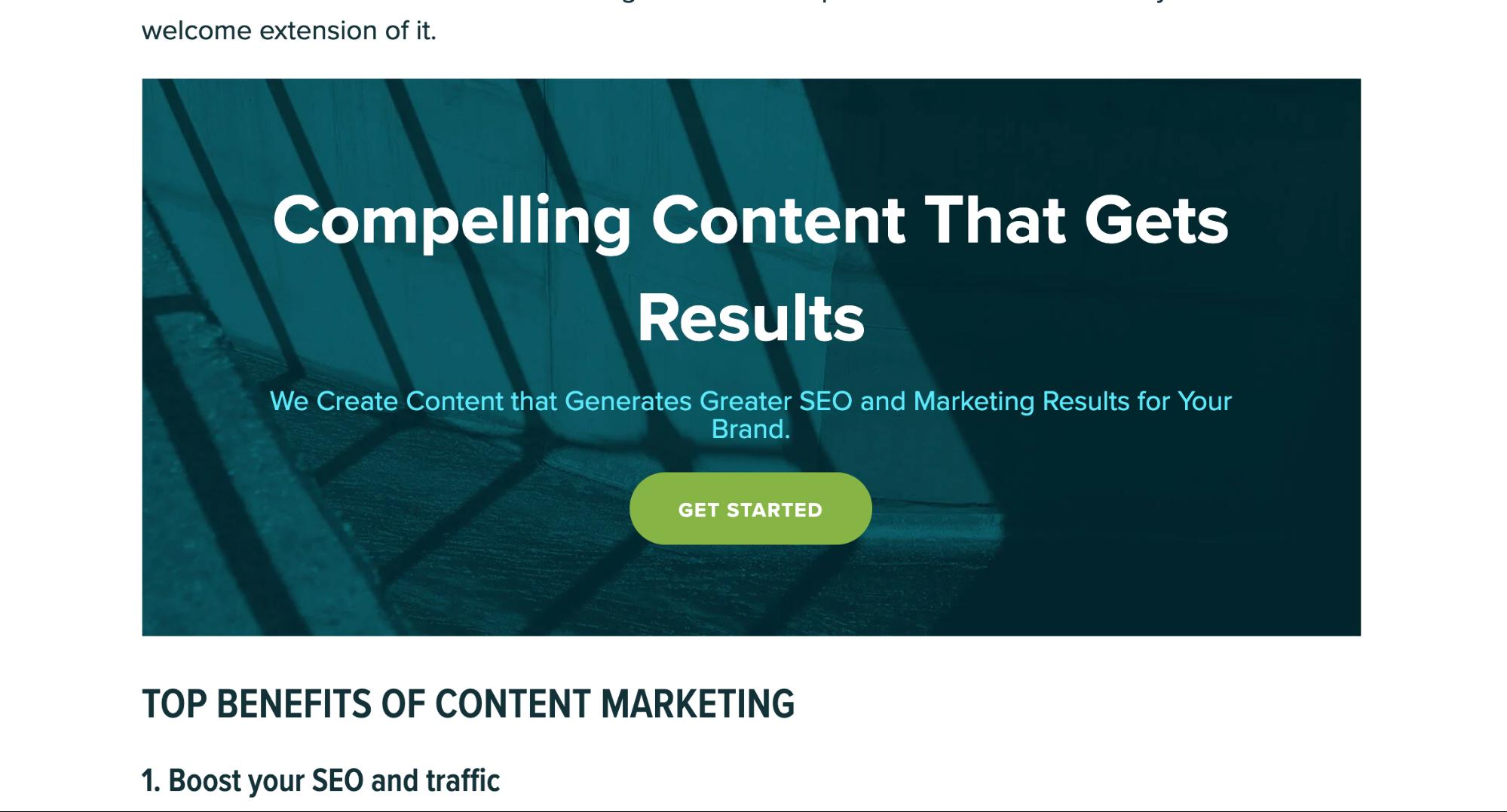 murray dare content marketing services competitor comparison seo analysis