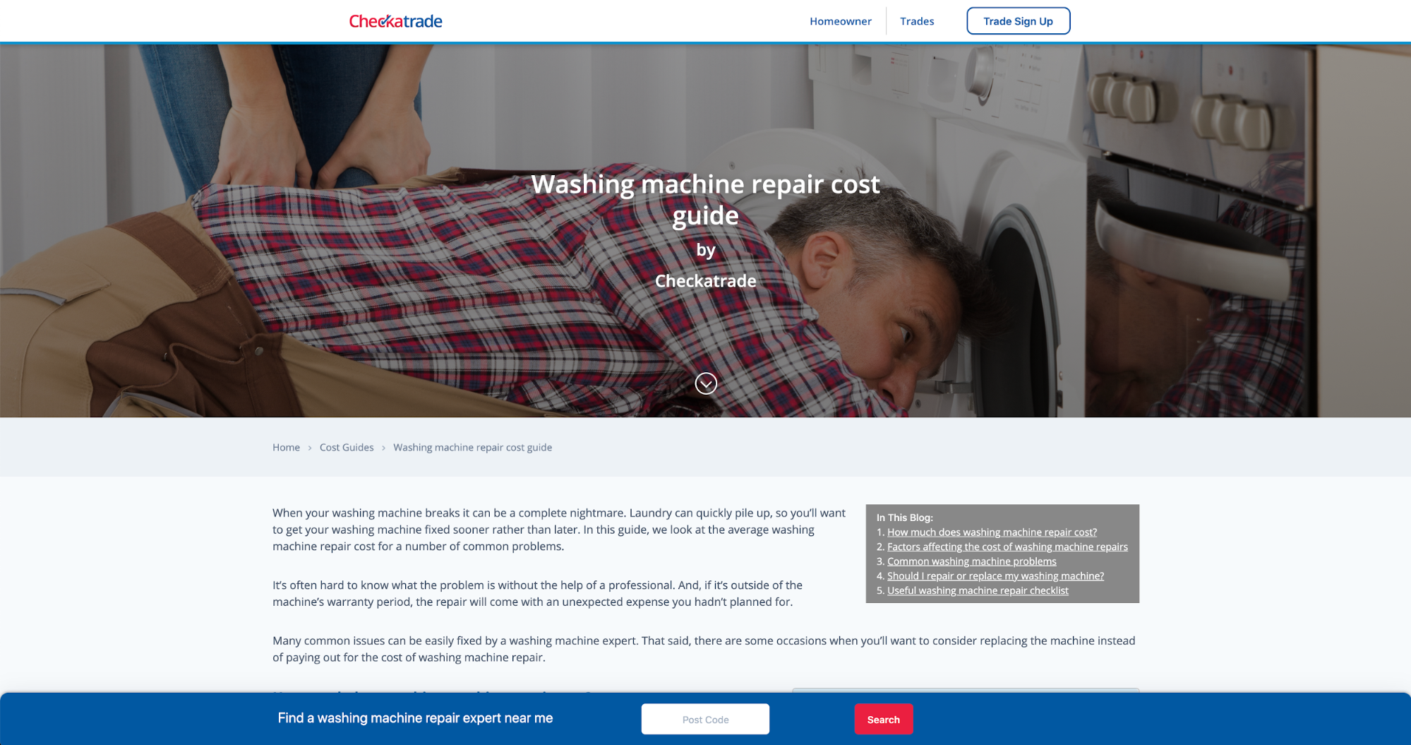 murray dare competitor analysis example washing machine repair company comparison 20