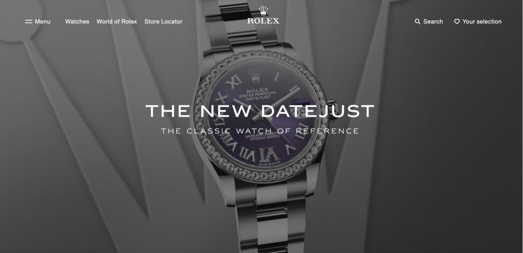 screenshot of Rolex's homepage video