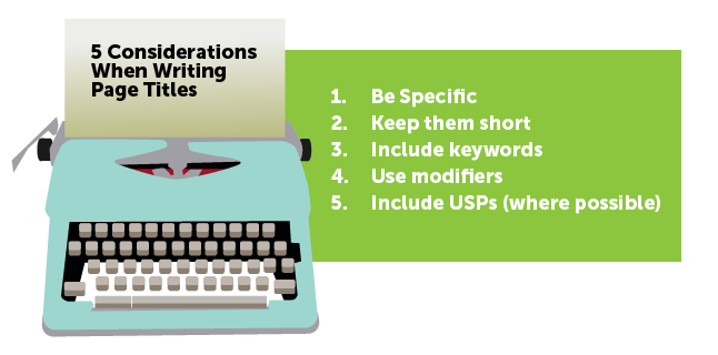 Image: 5 considerations when writing page titles