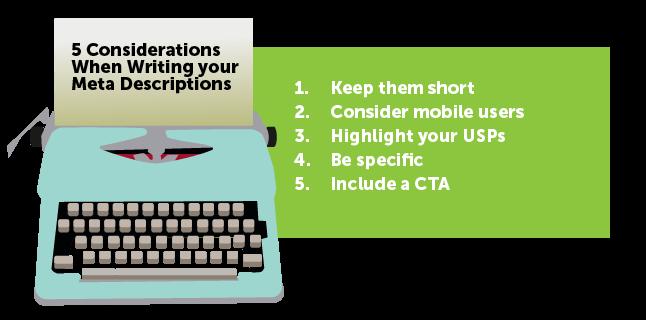 Image: 5 considerations when writing meta descriptions