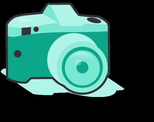 Focus_camera - DSLR style camera in green tones