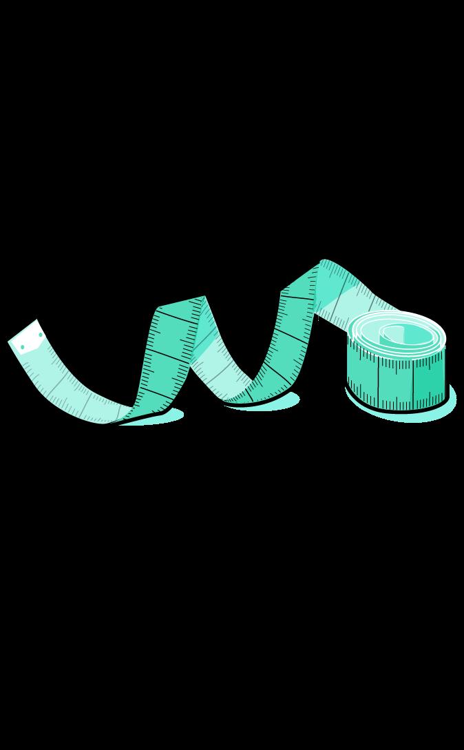 measuring tape in green