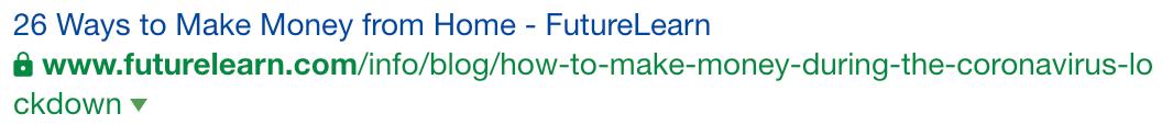 Screenshot of Future Learn article