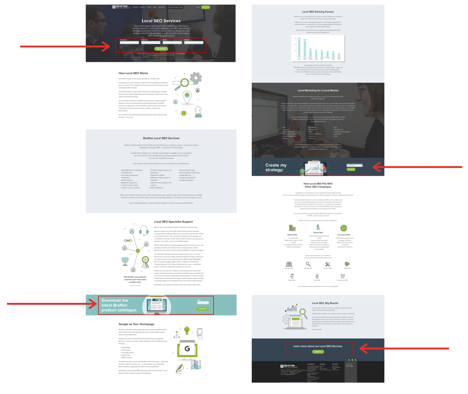 Content marketing guides and CTAs