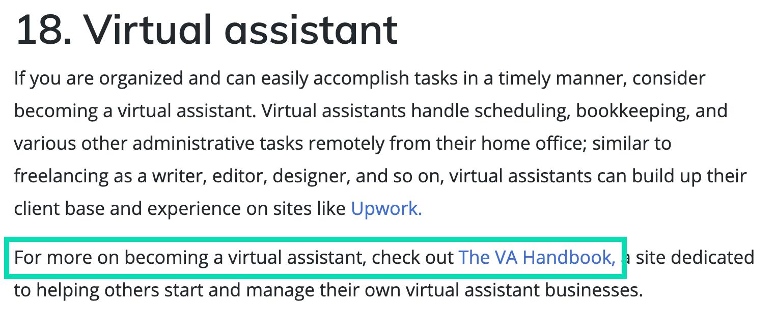 Future Learn link to The VA Handbook
