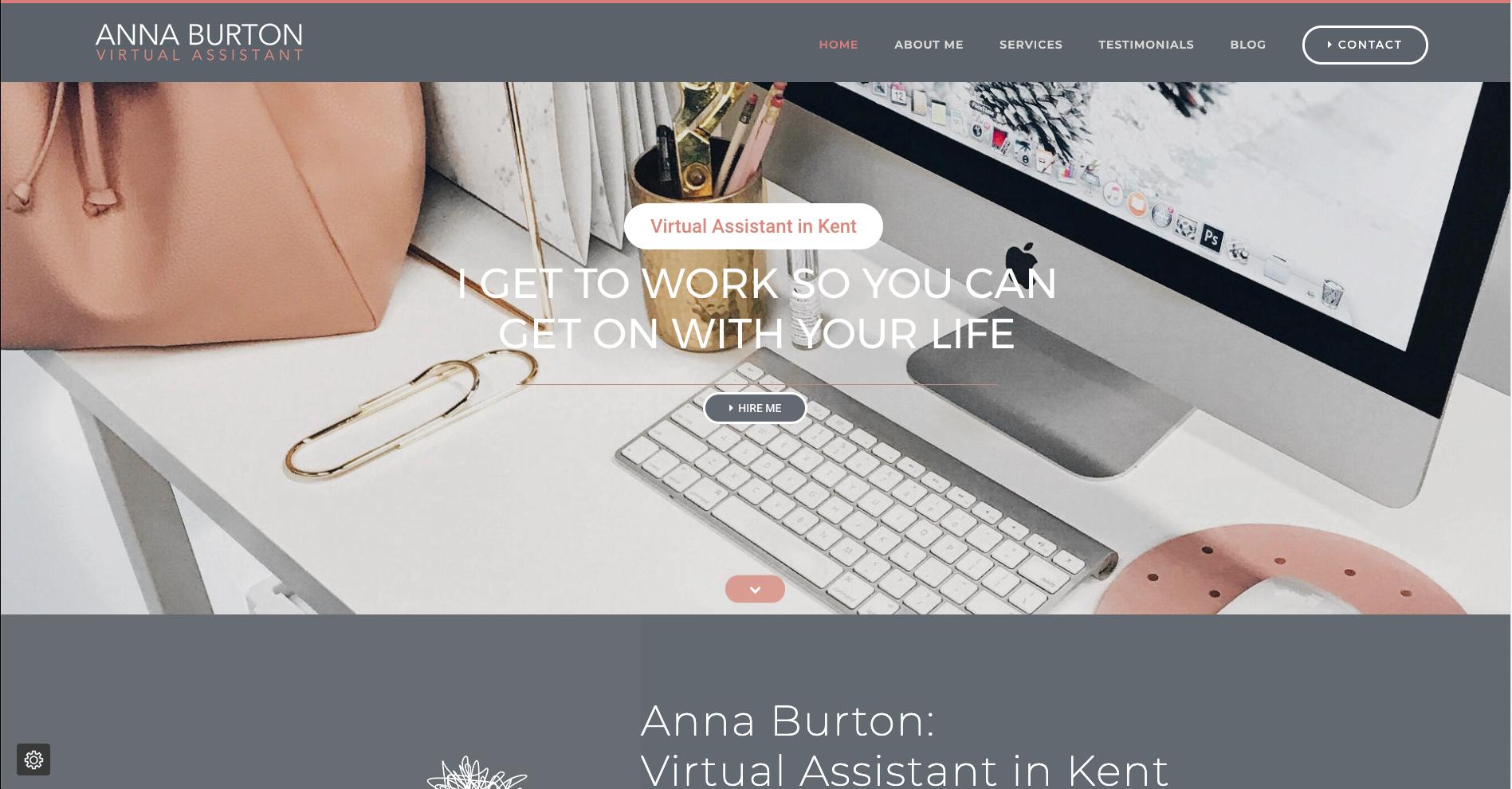 anna burton virtual assistant homepage