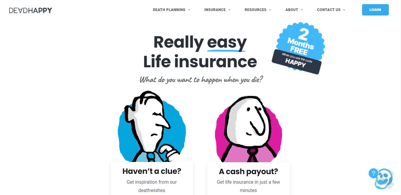 Good Content Example Dead Happy Website Homepage