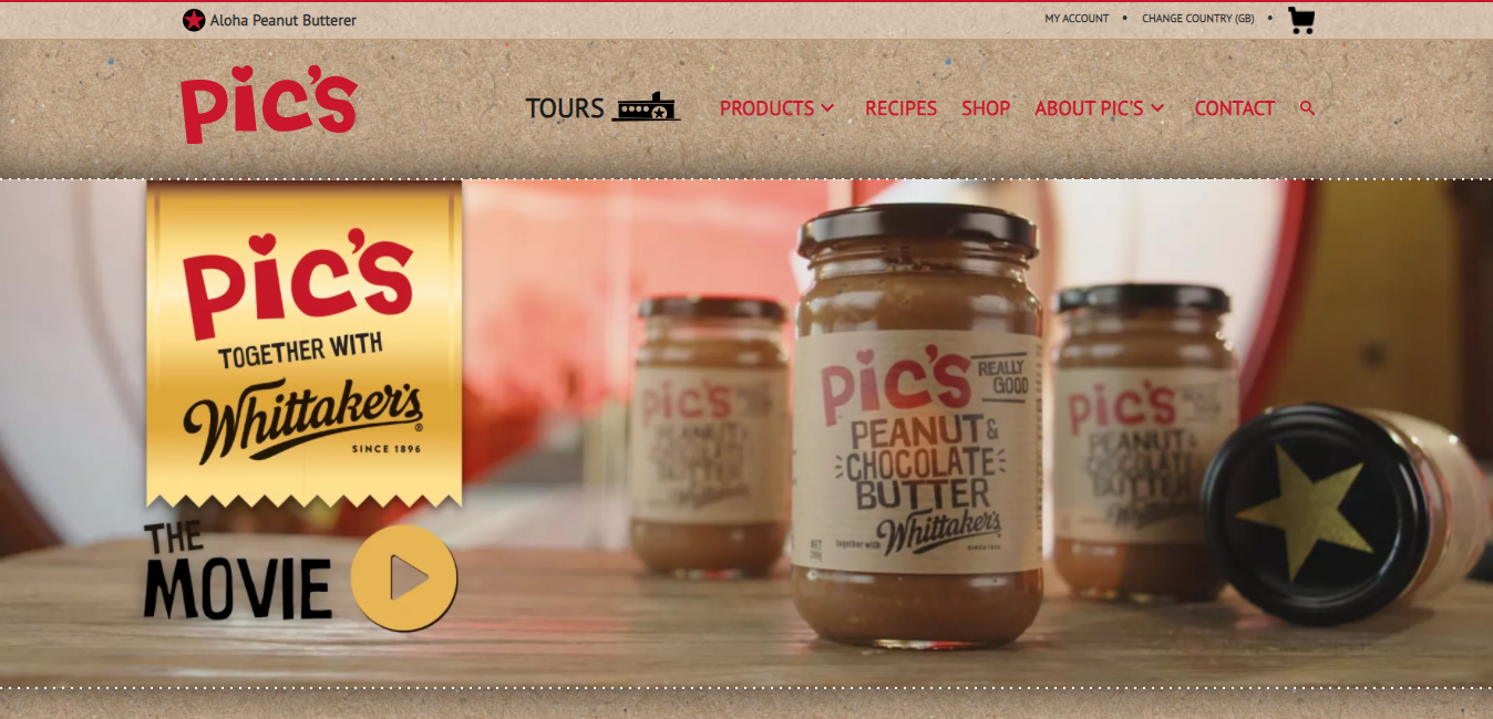 Pic's Peanut Butter Website as Example of Good Content
