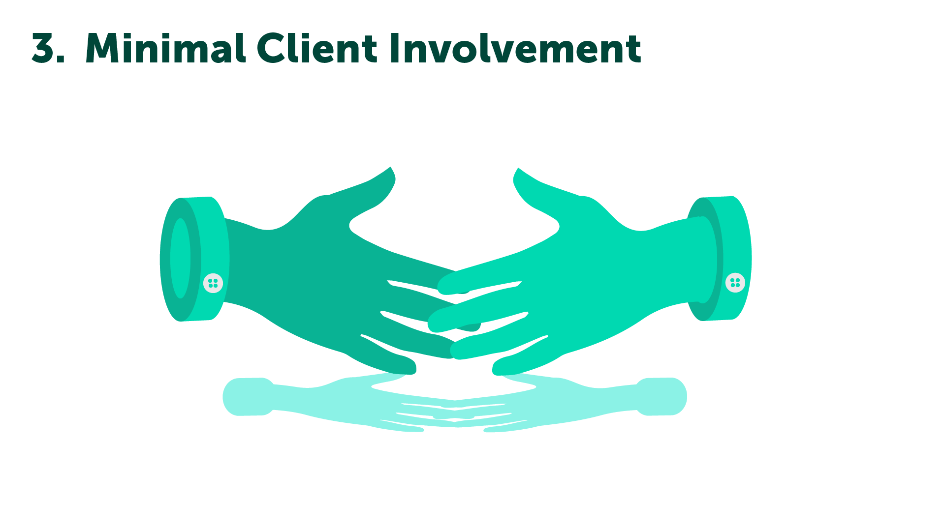 Minimal Client Involvement