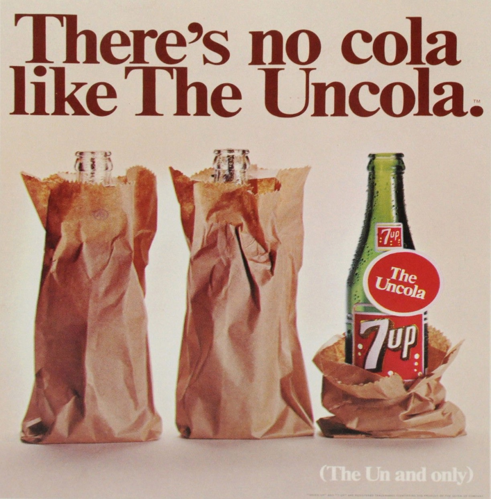 7UP uncola ad campaign - defining an enemy for your brand and why enemy-centric marketing works