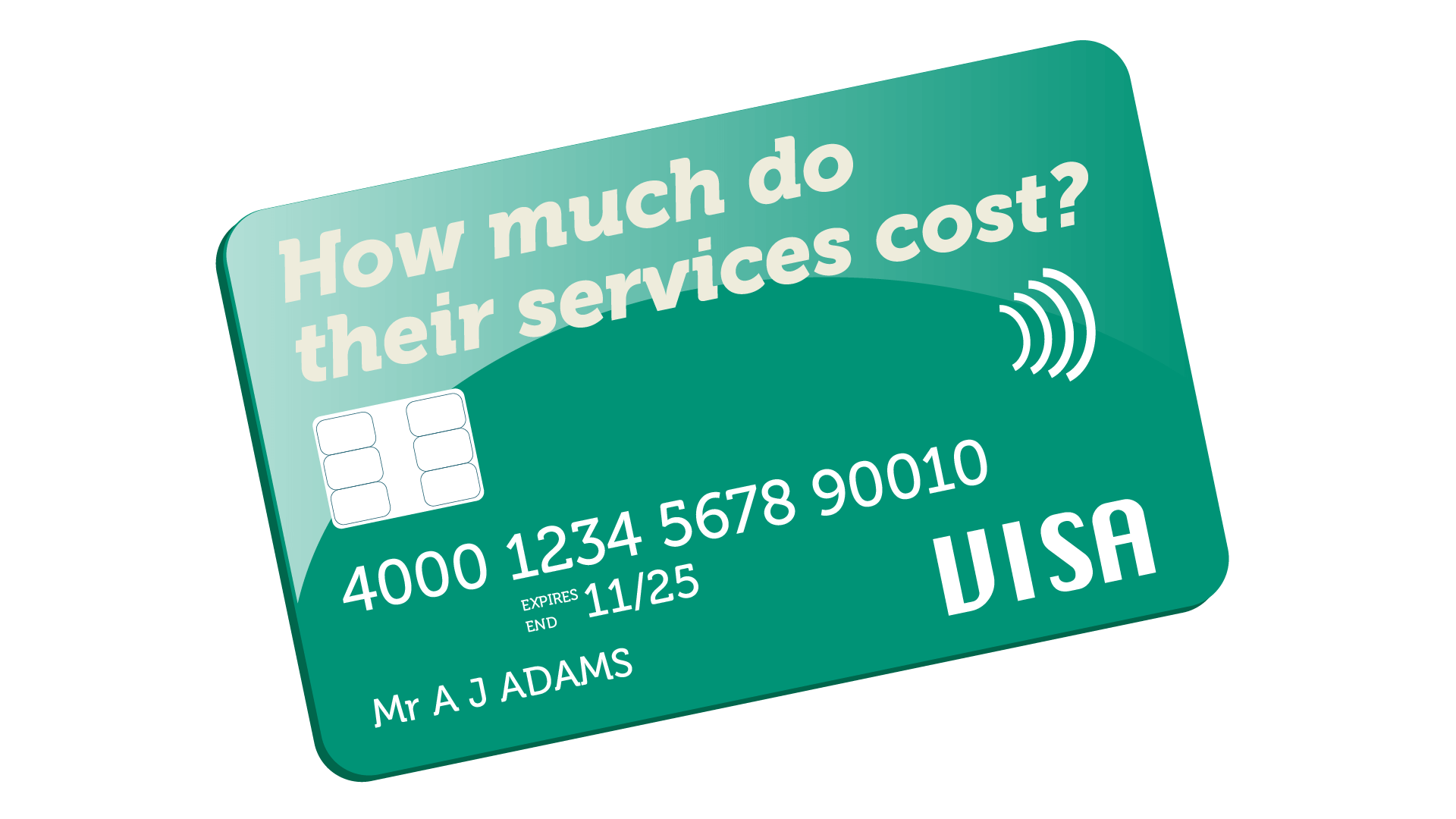 marketing consultant - how much do they cost? Image of a bankcard