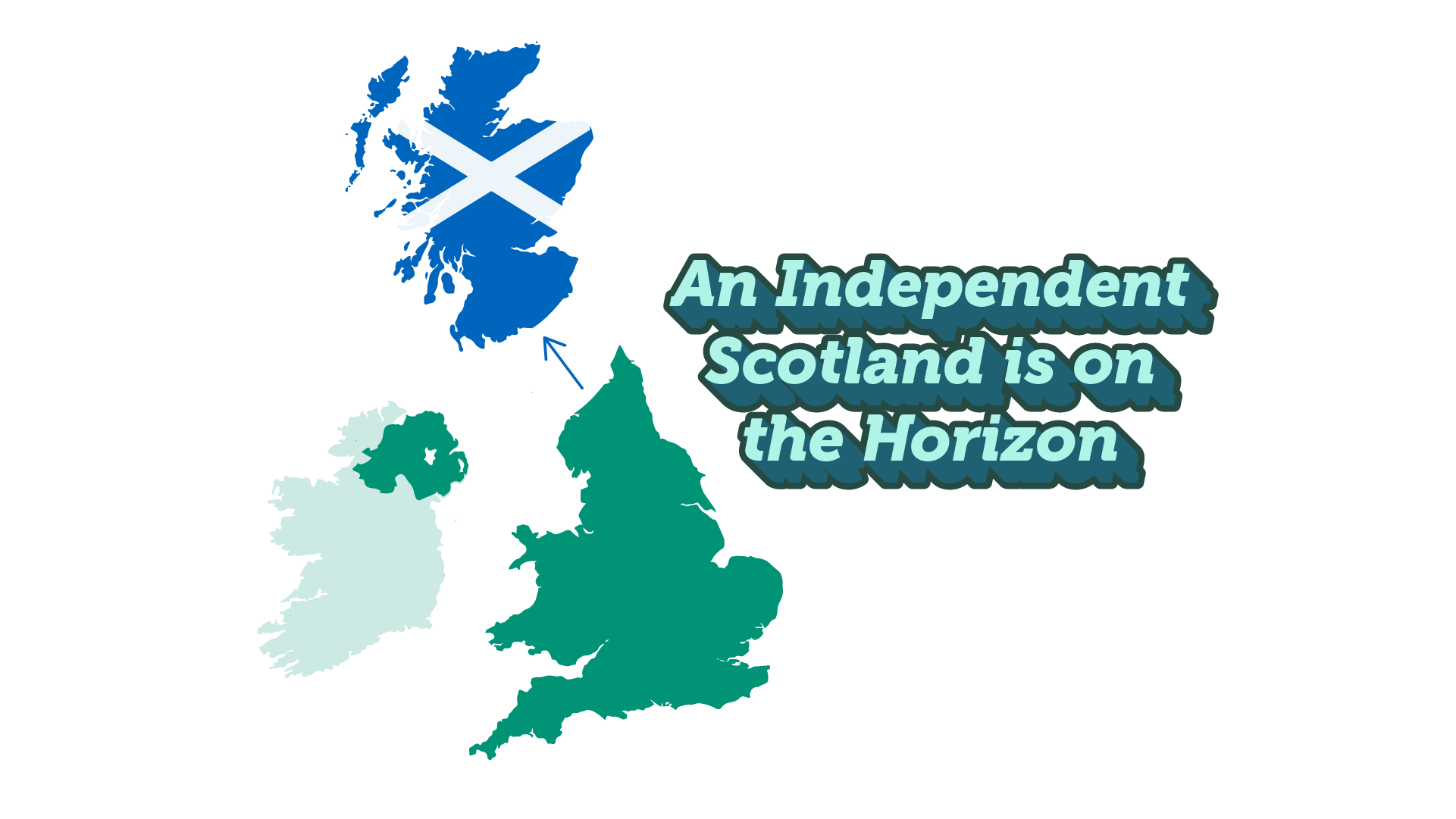independent scotland is one the horizon indyref2 map depeicting scotland as independent from Britain