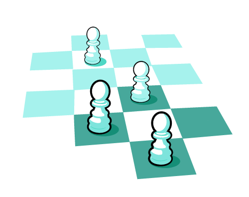 Chess set pawns only