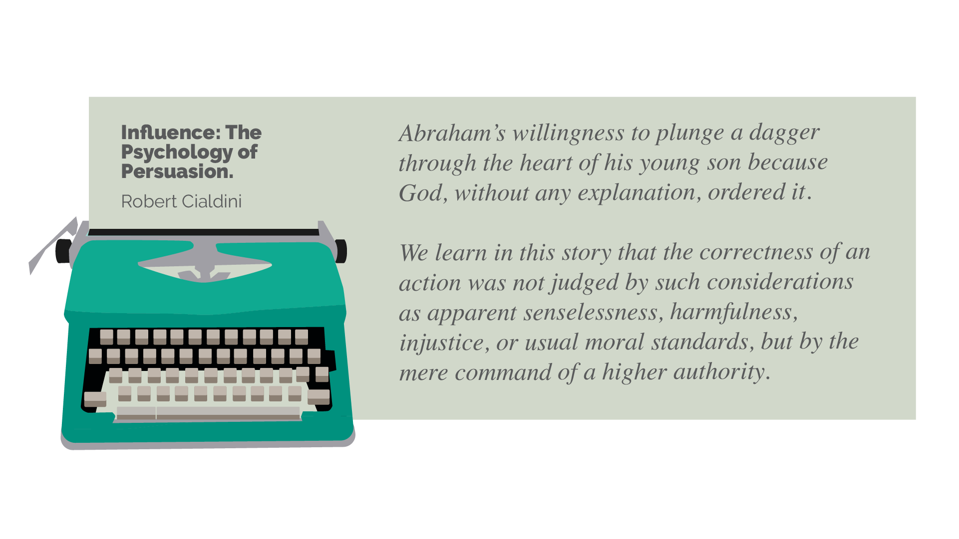 social proof typewriter with quote from Cialdinis book