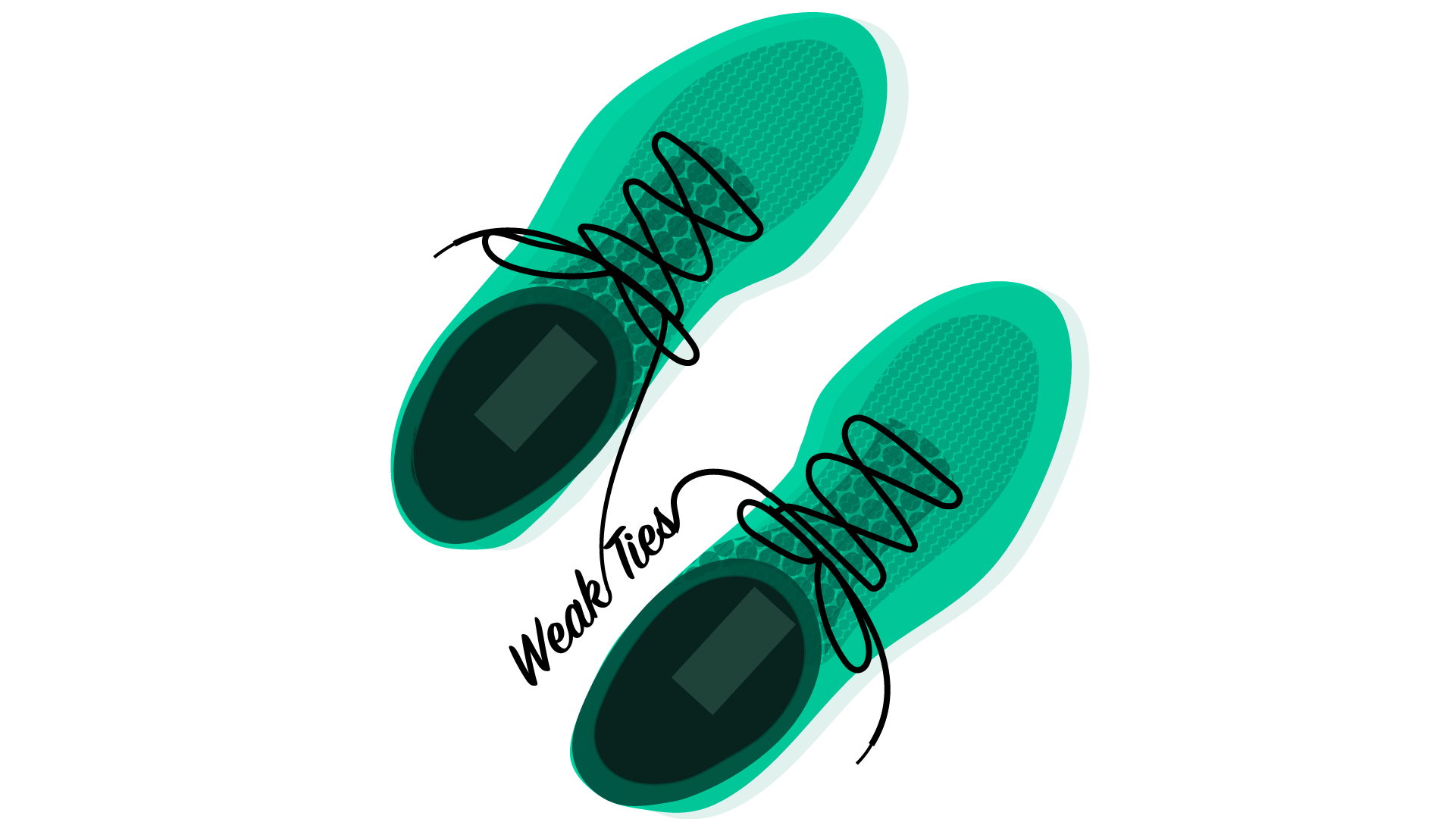 Running shoes provider weak ties