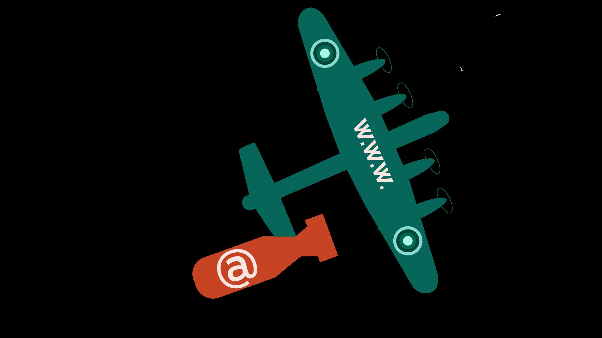 WarPlane dropping email